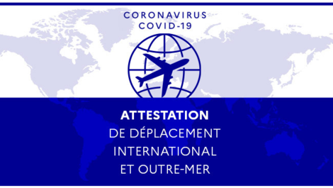 Attestation de déplacement international